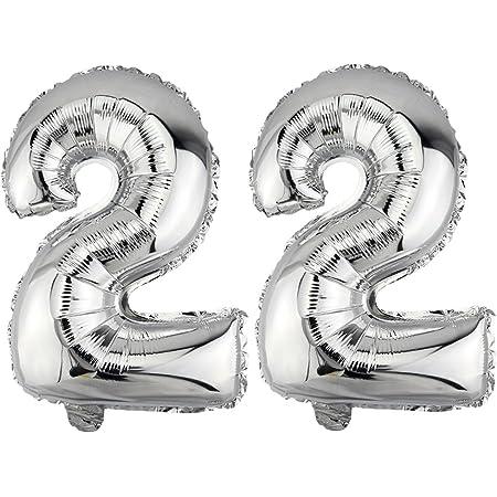 XL 70cm not Helium balloon Folienballon Silber Zahl 0 Zahlen Geburtstag Geschenk