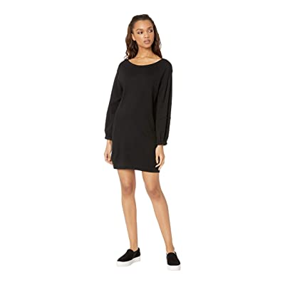 Splendid Nova Cashmere Blend Sweater Dress (Black) Women