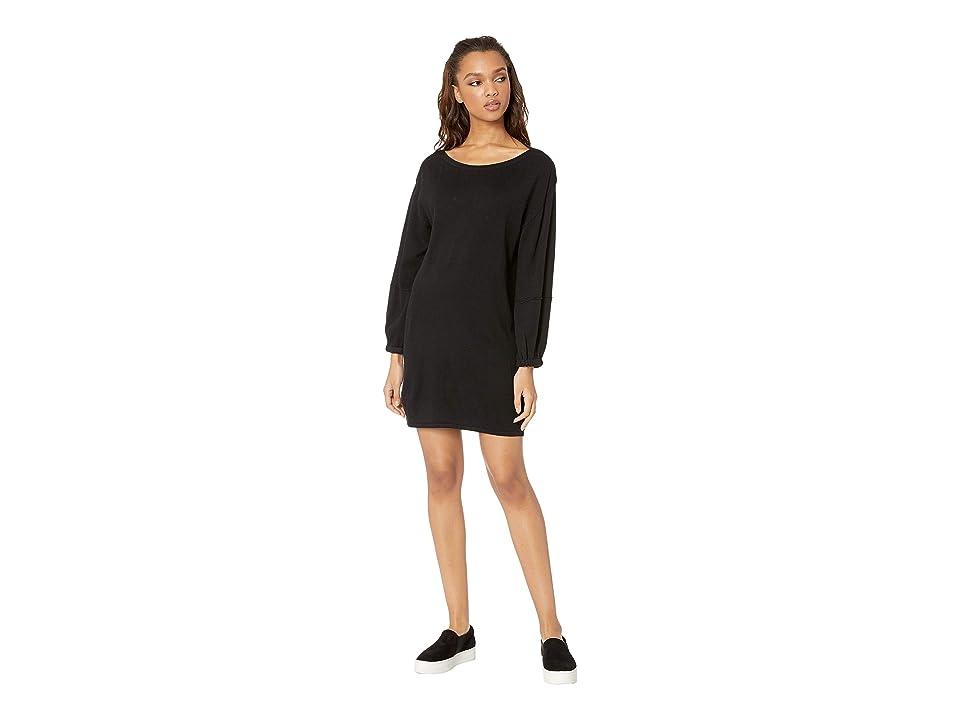 Splendid Nova Cashmere Blend Sweater Dress (Black) Women