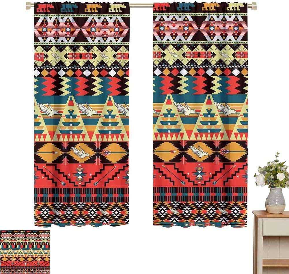 Home Decoration Thermal 激安 激安特価 送料無料 Insulated 激安 American Class Curtains Native