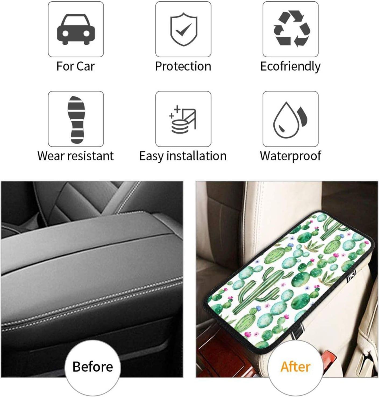 Auto Center Console Pad Dog Paw Prints Bones Car Armrest Seat Box Cover Protector Stylish Car Armrest Cover Universal Fit Car Decor Accessories Handrail Box Cushion Lid