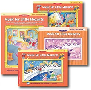 Music for Little Mozarts Level 1 - Piano Curriculem Set - Lesson Book, Discovery Book, Workbook and Flash Cards Included