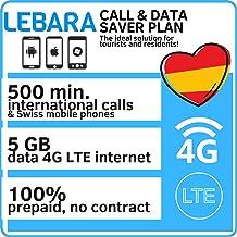 Tarjeta SIM Prepago para España con 5GB de datos y 500 Minutos Llamadas Internacionales