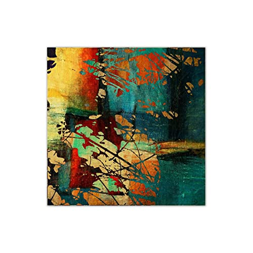 999Store Unframed Printed Grunge Vintage Canvas Painting (36X36 inches)