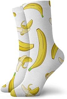Elsaone, Banana Dress Socks Funny Socks Crazy Socks Calcetines casuales para niñas niños