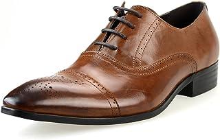 [ルシウス] 全36種類から選べる メンズ ビジネスシューズ 本革 レザー 外羽根 内羽根 レースアップ スリッポン ビットローファー ロングノーズ ドレスシューズ 紳士靴 革靴 【AZ85B】