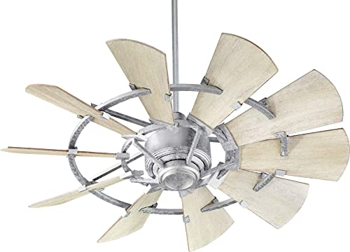 """high quality Quorum International Windmill outlet sale 44"""" Ceiling Fan - outlet sale Galvanized - 94410-9 outlet online sale"""