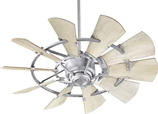 Quorum 94410-9 Windmill 44-inch Ceiling Fan with Wall Control Galvanized