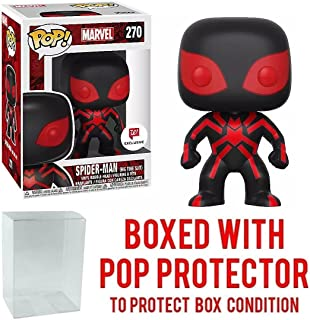 Funko Pop! Marvel: Spider-Man Big Time Suit #270 Walgreens Exclusive Collectible Figure (Bundled with Pop Box Protector Case)