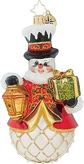 Light The Way Gold Tone 7 x 4 Glass Christmas Hanging Figurine Ornament