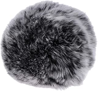 FITYLE Soft Fluffy Faux Rabbit Fur Pompom Ball for Key Chain Key Ring Bag Car Pendant Crafts Ornament