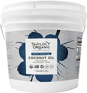 Certified Organic Coconut Oil Virgin Unrefined (Cold Pressed), Non-GMO, Raw, Wildly Organic - (8 Pounds) 1 Gallon