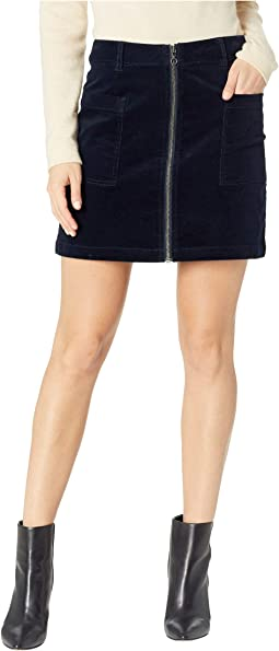 Patch Pocket Corduroy Mini Skirt w/ Zipper