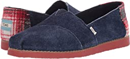 TOMS Navy Tip Shaggy Suede