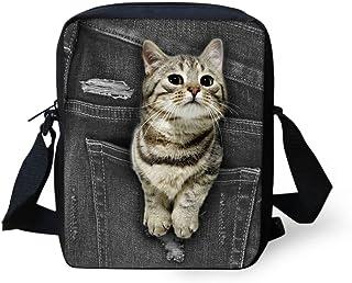 HUGS IDEA Cute Pocket Cat Mini Cross Body Bags Small Shoulder Handbags Coin Money Purse Wallet Bag