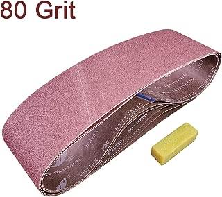 SACKORANGE 6 PCS 6 x 48 Inch Sanding Belts | 80 Grit Aluminum Oxide Sanding Belt | Premium Sandpaper for Portable Belt Sander (80 Grit)