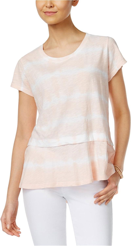 Style /& Co Womens Peplum Basic T-Shirt