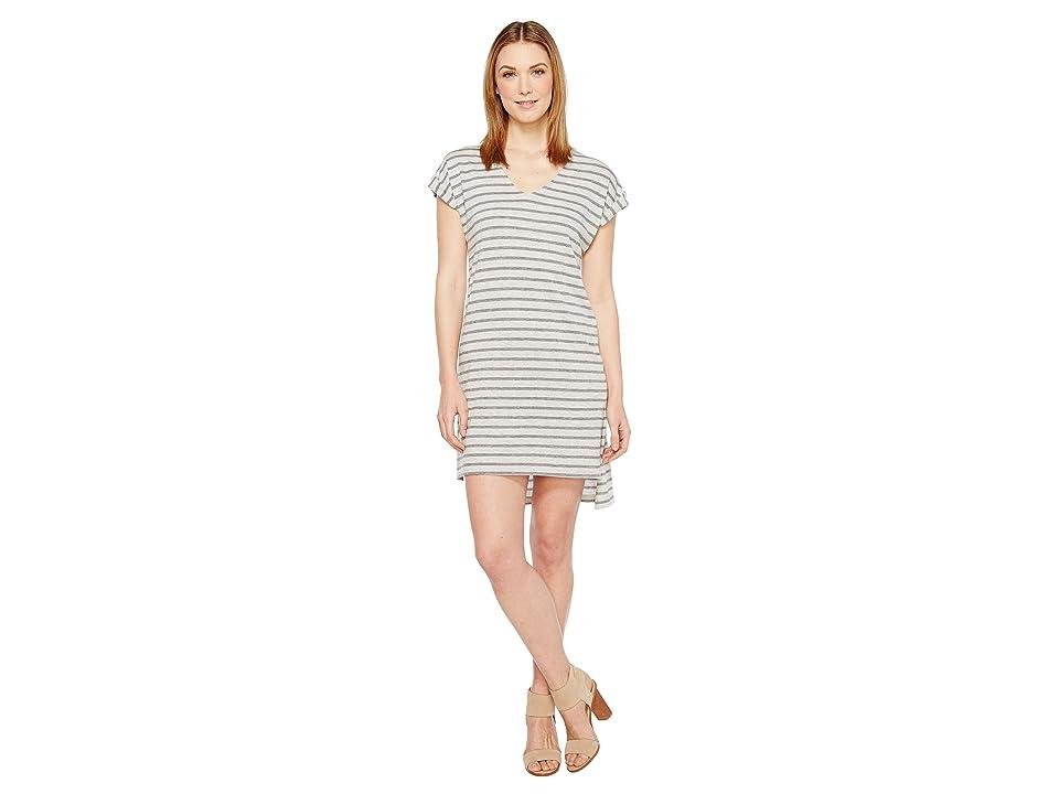 Alternative Eco Jersey Yarn Dye Stripe Escapade Dress (Eco Grey Riviera Stripe) Women