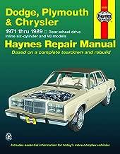 Dodge, Plymouth, & Chrysler RWD 6Cylinder & V8 Models (71-89) Haynes Repair Manual (Does not include 426 (Hemi), 3x2 bbl. Carb setups (Six-pak),fuel ... front-wheel drive.) (Haynes Repair Manuals)