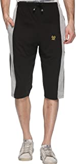 VIMAL JONNEY Dark Gray Cotton Blended Capri for Men-C7-01-P