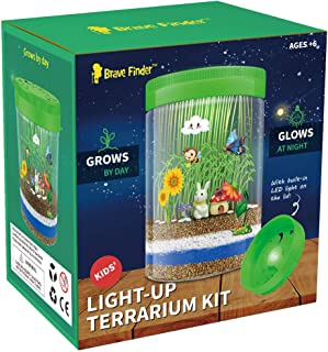 Brave Finder Terrarium Kit, Boys Girls Toys Arts and Crafts With LED Kids Birthday Gifts Educational Gifts for Boys & Girls Science Kit with Light-Up Boys and Girls Toys Age 5, 6, 7, 8, 9, 10+Year Old