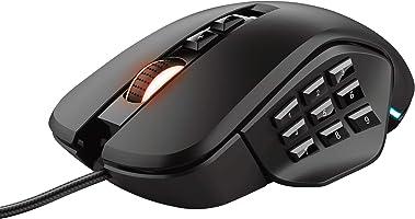 Trust Gaming GXT 970 Morfix MMO Mouse Gaming Personalizzabile, fino a 10000 DPI, 4 Placche Laterali Intercambiabili,...