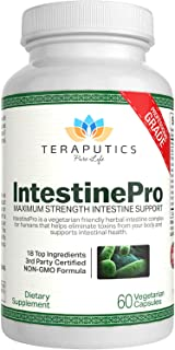 IntestinePro Intestine Support for Humans with Non-GMO Wormwood, Black Walnut, Echinacea + 15 More Premium Ingredients, 60 Vegetarian Capsules