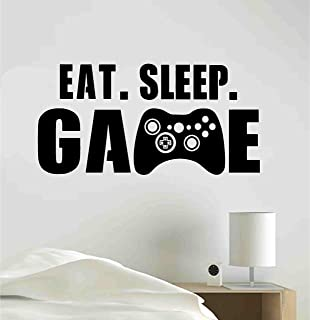eat sleep game wall decal