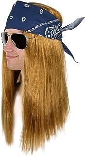 Largemouth Men's Heavy Metal Rocker Wig Mirror Sunglasses Costume Kit