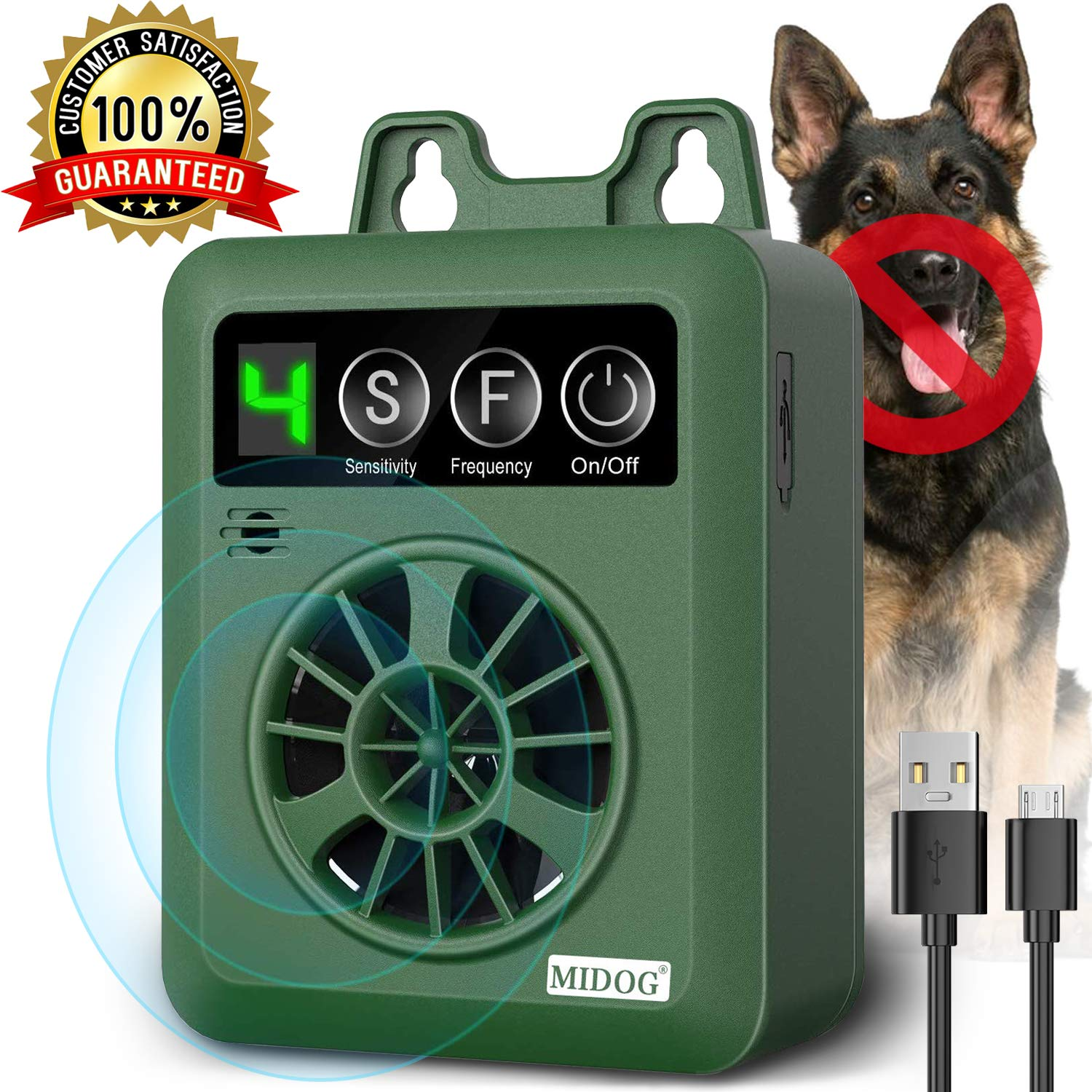 Barking Adjustable Ultrasonic Deterrent Silencer