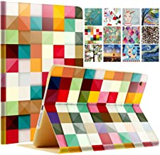 """DuraSafe Cases for iPad 4/3 / 2-9.7"""" A1458 A1459 A1460 A1403 A1416 A1430 A1395 A1396 A1397 Printed Folio Smart Cover with Protective Sleek & Classic Design - Color Grid"""