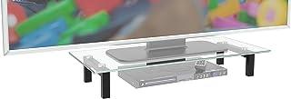 RICOO FS6028-C Meuble TV 60x28x10 cm Réhausseur écran Universel Étagere Bureau Support Tablette pour Télévision ecran PC V...