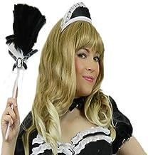 Yummy Bee Cofia de Criada Francesa Camarera Shows de Rocky Horror Fiestas de Disfraces Negro Blanco