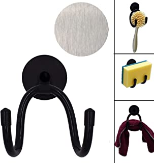 YYST Magnetic Sink Sponge Holder Dish wand Holder Brushes Holder - No Rust No Suction Cups - W Metal Plates on the inside ...