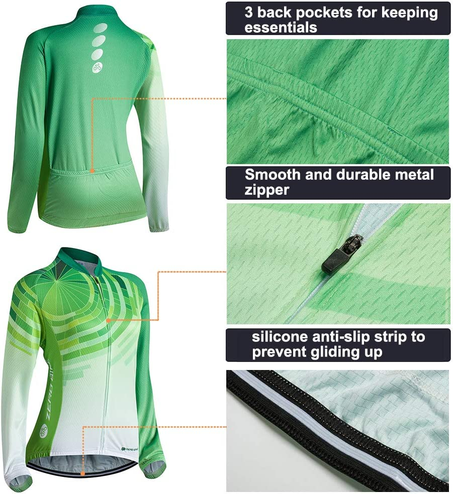 Ropa Ciclismo para Mujere Ciclismo Maillot MTB de Manga Larga y Culotte Pantalones Acolchado 3D