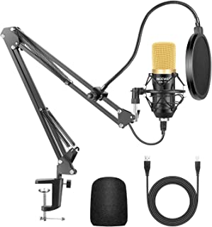 Neewer Professional NW-7000 USB Studio Condenser Microphone and NW-35 Suspension Scissor Arm Stand with Shock Mount and Ta...