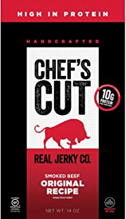 Chef's Cut Real Beef Original Recipe Jerky - Premium Cuts, Gluten & Nitrite Free - Paleo Friendly, 14 Ounce
