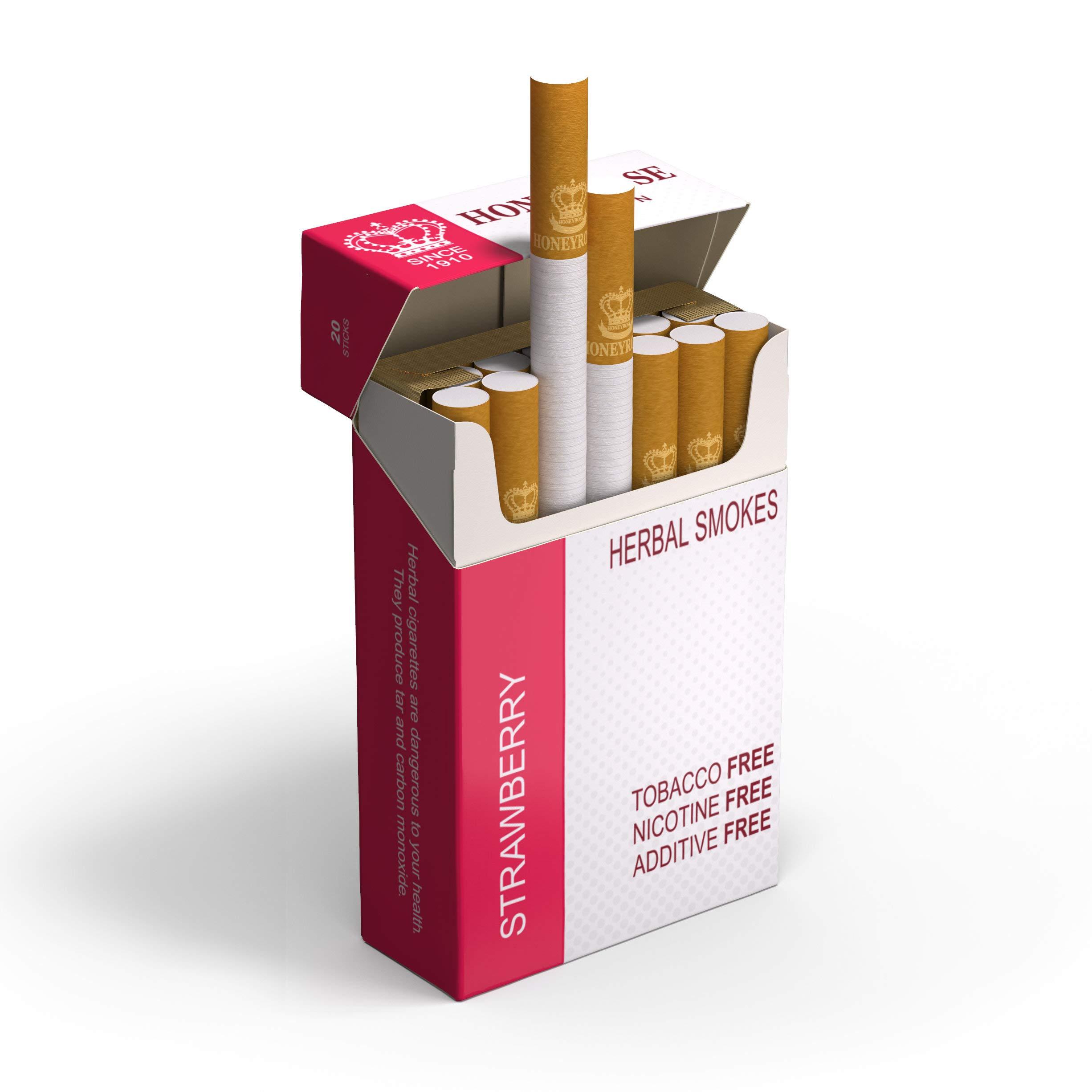 Honeyrose - Strawberry Herbal Cigarettes   20cigarettes