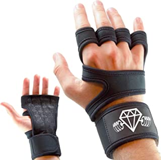 Diamond Cut Muscle Weight Lifting Gloves | Fitness Bodybuilding Workout Gloves for Men & Women | WOD Crossfit | Palm Protection | Support Straps Wrist Band Wraps