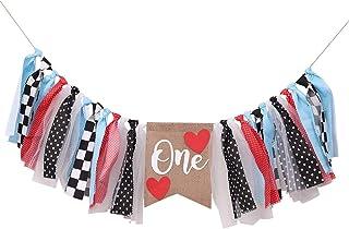 Alice In Onederland Highchair Banner For 1st Birthday - Queen Of Hearts Highchair Banner