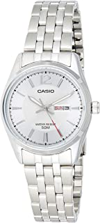 Casio Women's White Dial Stainless Steel Analog Watch - LTP-1335D-7AVDF