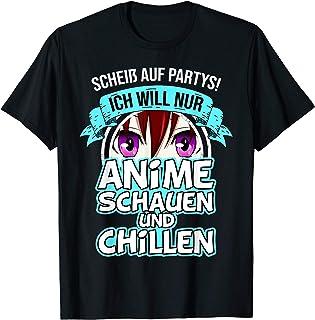 Anime schauen und Chillen - Baka Spruch Manga T-Shirt