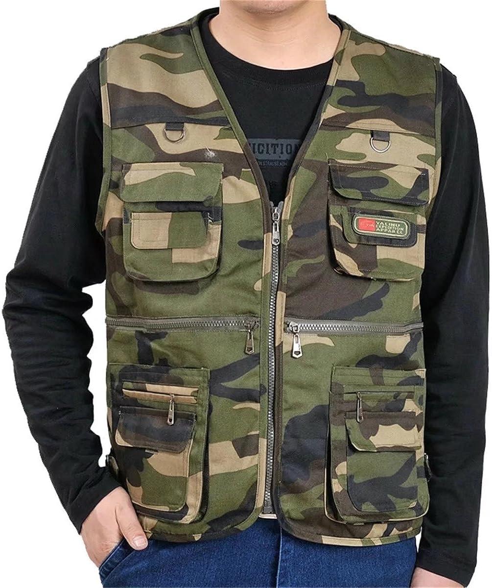 QZH.DUAO Men's Leisure Multiple Pocket Outdoor Military Travel Fishing Vest