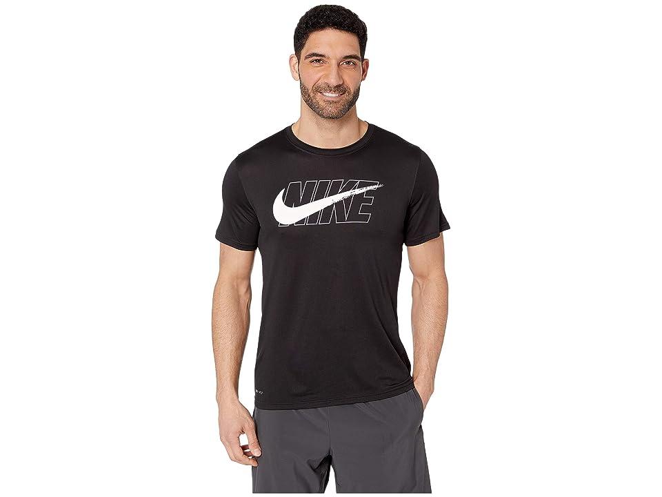 Nike Dry Tee Leg (Black/White) Men
