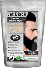 1 Pack of Jet Black Henna Beard Dye for Men - 100% Natural & Chemical Free Dye for Hair, Beard & Mustache - The Henna Guys (2 Step Process)