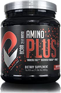 Amino Plus + by PUMPD Labs - Energy Amino's for endurance. Fortified with, 2:1:1 BCAA's - Peak O2 - Radical Fuel™ - Cyclic Dextrin - D-Ribose - L-Glutamine - Sour Cherry Flavor - 30 serv.
