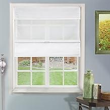 Chicology Cordless Magnetic Roman Shades / Window Blind Fabric Curtain Drape, Light..