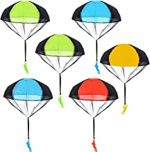 BUYGOO 6PCS Parachute Toys Tangle Free Throwing Hand Throw Parachute Army Man Toss It Up and Watching Landing Outdoor Toys for Kids