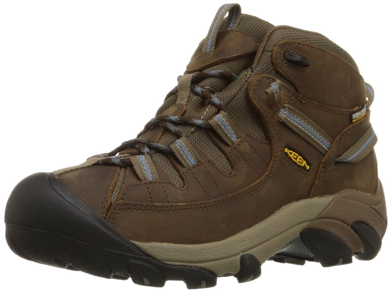 KEEN Women's Targhee II Mid Waterproof Hiking Boot,Slate Black/Flint Stone,10 M US