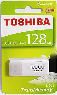 Toshiba USB2.0 Flash Drive 128GB USB 2.0 Flash Disk TransMemory U202 USB Memory Stick (White)